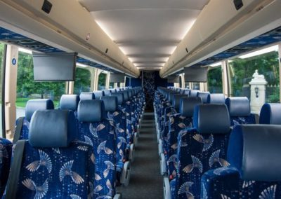 interior of 56-passenger motorcoach
